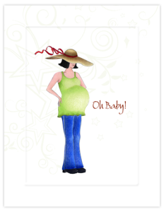 BB 13a - pregnant with hat