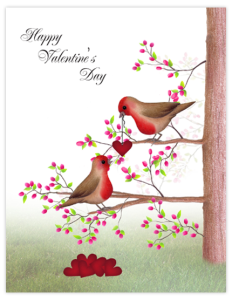 BR 13 - birds and hearts 'valentine'