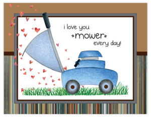 FL 82 - lawnmower hearts