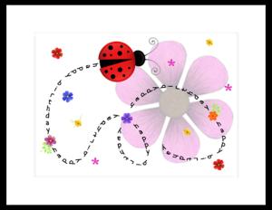 FL 45b - ladybug swirl