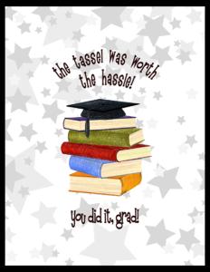 FL 80 - cap and books 'tassel'
