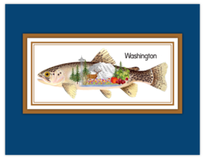 SP 17b - trout on blue